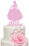 Princess Belle Beauty and the Beast with Happy Birthday Cake Acrylic Topper